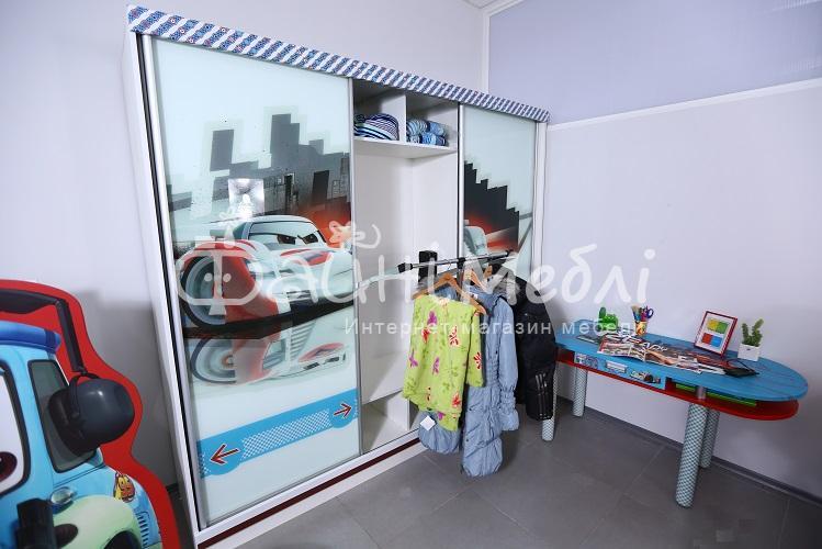 Шкаф купе детский молния маквин купить в Нижегородской